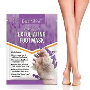 BestNiffes Lavender Exfoliating Peel Dead Skin Renewable Soft Foot Socks Mask