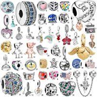 S925 New silver charm dangle Pendant bead Fit European bracelets bangle Necklace