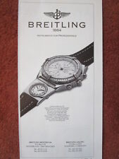 11/1992 PUB MONTRE BREITLING WATCHES SUISSE CHRONOMAT UTC CHRONOGRAPH AD