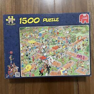 Jumbo 1500 Piece Jumbo Jigsaw Puzzle - Jan Van Haasteren: Crazy Golf . Rare!!