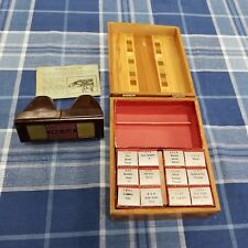 Vintage Tru Vue Viewer 12 Films Library Case NY Worlds Fair, Los Angeles and mor