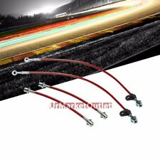 Red Front+Rear Stainless Steel Hose Brake Line Kit for Toyota 03-08 Corolla 4DRS