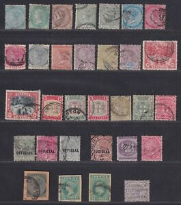Jamaica 1860-1906 Victoria & Edward VII Collection 24 Stamps SCV $152.30
