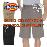 "DICKIES 42283 MENS 13"" WORK SHORTS LOOSE FIT CELL PHONE POCKET CASUAL SHORTS"