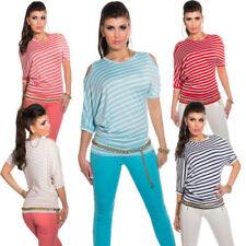 Rockabilly 3/4 Arm Damenblusen, - tops & -shirts mit Rundhals-Ausschnitt