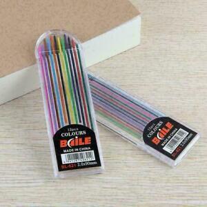12colors/Box 2B Lead Refills Multi Colored Pencil Assorted 2.0mm F5F3 B3U7 H8N7