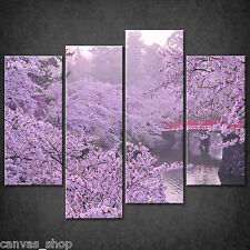 CHERRY BLOSSOM TREES CASCADE CANVAS PRINT WALL ART PICTURE READY TO HANG