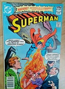 DC~SUPERMAN #346~VFn~Pence Variant~Bag/Board~