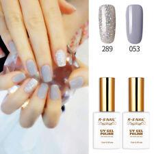 RS 289_053 Gel Nail Polish UV LED Sequined Varnish Soak Off Grey Silver Glitter