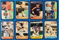 (8) 1986 Fleer Baseball Card Lot Nolan Ryan Cal Ripken Jr. Fielder O'Neil RCs