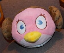Angry Birds Bird Star Wars PRINCESS LEIA Pink Brown Hair Plush Stuffed Plush 14""