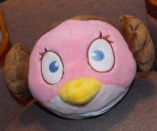 "Angry Birds Bird Star Wars PRINCESS LEIA Pink Brown Hair Plush Stuffed Plush 14"""
