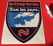 Brittany Ferries large Sticker car ferries  Trucking