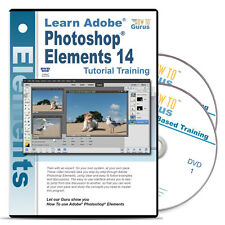 Photoshop Elements 14 tutorial training 16 hours 233 videos 2 DVDs