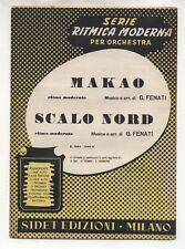 Spartito GIOVANNI FENATI Makao - Scalo Nord 1952 Sheet music