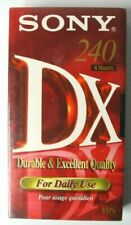 2 Pcs Sony 240 DX VHS Blank Video Cassette Tape 4hours 240mins