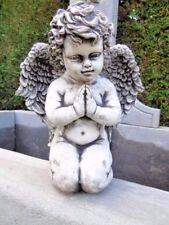 statue d un ange assis en pierre patinée , superbe ! nouveau !!!