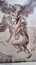 Rembrandt Heliogravure France 1800,s 8.25x11.9 on Japon Stork and baby signed