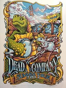 Dead and Co 2017 Summer Tour Poster Signed AJ Masthay