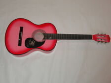 LAUREN ALAINA SIGNED HOT PINK ACOUSTIC GUITAR PEACHES COUNTRY SUPERSTAR