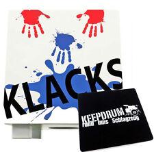 Baff Klacks Trommelhocker Weiß Cajon für Kinder + KEEPDRUM Sitzpad