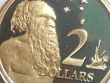 "2007 AUSTRALIAN $2 PROOF COIN X MINT SET ""AUSTRALIAN TWO DOLLAR $2.00 2x2 HOLDER"