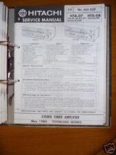 Manual de servicio para Hitachi HTA-07/08 Receptor ORIGINAL