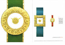 PUBLICITE ADVERTISING  2000   GIANMARIA BUCCELLATI  collection montres (2 pages)