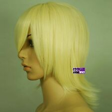 40cm Light Golden Blond Heat Styleable Long Bang Layered Flip Cosplay Wig 63_LGB