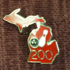 Bowling pin enameled new 200 club red Michigan