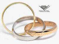 Cartier Trinity 18k Tri-Color White/Yellow/Pink Gold Classic Ring +Box Size 7.25