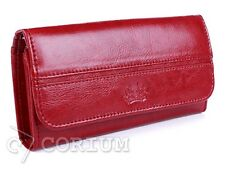 WALLET WOMENS NATURAL LEATHER RED PURSES SACCUS COLLECTION