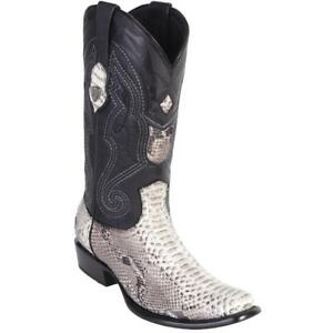 Men's Wild West Genuine Python Boots Dubai Toe Handcrafted