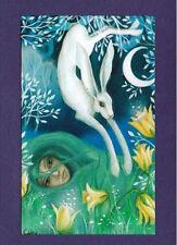 SPRING EQUINOX FESTIVAL GREETING CARD 21st Mar PAGAN WICCAN Celtic AMANDA CLARK