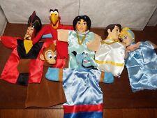 Aladdin puppet bundle vintage Disney vinyl heads Abu Jafar Iago Jasmine + Cinder