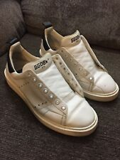 Golden Goose Starter Low Top Sneakers White Leather Size 38