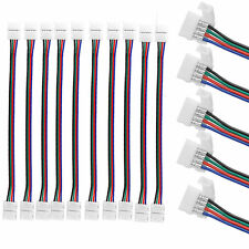 10pcs 10mm 4 Pin two Connector with Cable For Smd Led 5050 Rgb Strip Lightecy