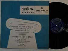 SZIGETI Beethoven Sonata 1 violin piano Schubert COLUMBIA LP classical 33 RPM