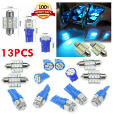 13x Blue LED Bulbs Car Interior T10 & 31mm License Plate Light Replacement Lamp