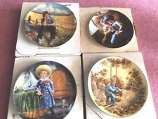 Set of Four Children Decorator Collector Plates, Free Shipping