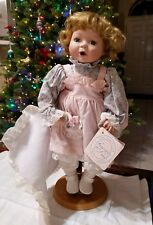 Porcelain Girl Doll 15' Inch Treasures In Lace Baby Girl With Her Blankie No Box