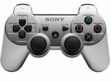 SILVER WIRELESS BLUETOOTH GAMEPAD REMOTE CONTROLLER FOR PS3 PLAY STATION 3