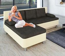 VCM Ecksofa Bettsofa Schlafsofa Sofa Couch mit Schlaffunktion 196 x 70 x 150 cm