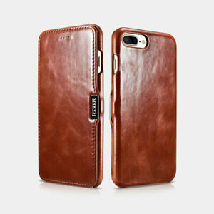 iPhone 7/iPhone 8 Case Side Open Leather Luxury Vintage Brown