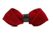 Unisex Men  Fashion Velvet Red Soild Bow Tie Bowtie Craft Wedding Party Ball