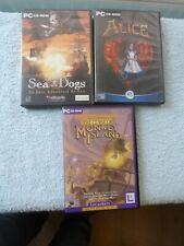 Job Lot 3 PC Rom Games Sea Dogs / Alice American Mcgee / Curse of Monkey Island