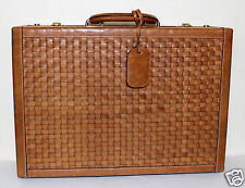 Domina Italy vintage woven leather briefcase
