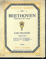 Beethoven , Rondo Op. 51 Nr. 2 G Dur ~  übergroße, alte Noten