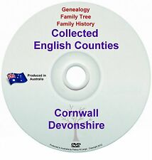 Genealogy England Cornwall Devonshire books DVD