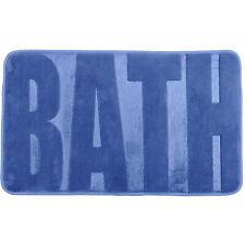 WENKO NEU Badteppich Memory Foam Bath, Duschmatte, Fjord blau